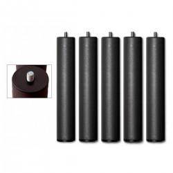 Pata roscada metálica redonda para somier de láminas de 5 patas