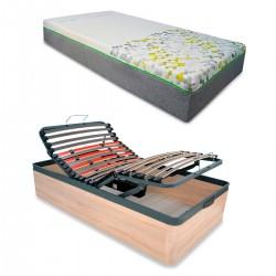 Colchón Fisiocare + Canapé Articulado Eléctrico Reforzado