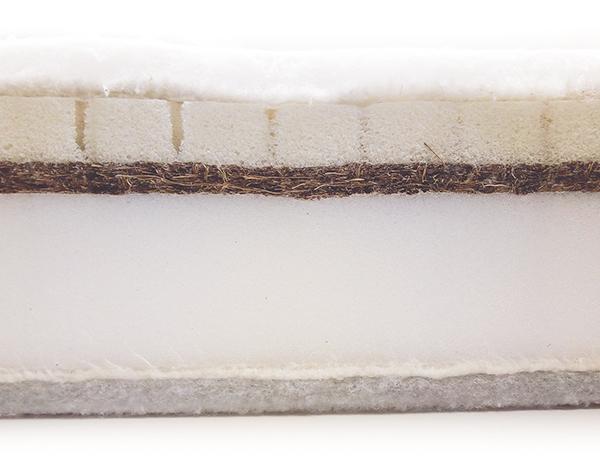 Núcleo colchón cuna látex y fibra de coco