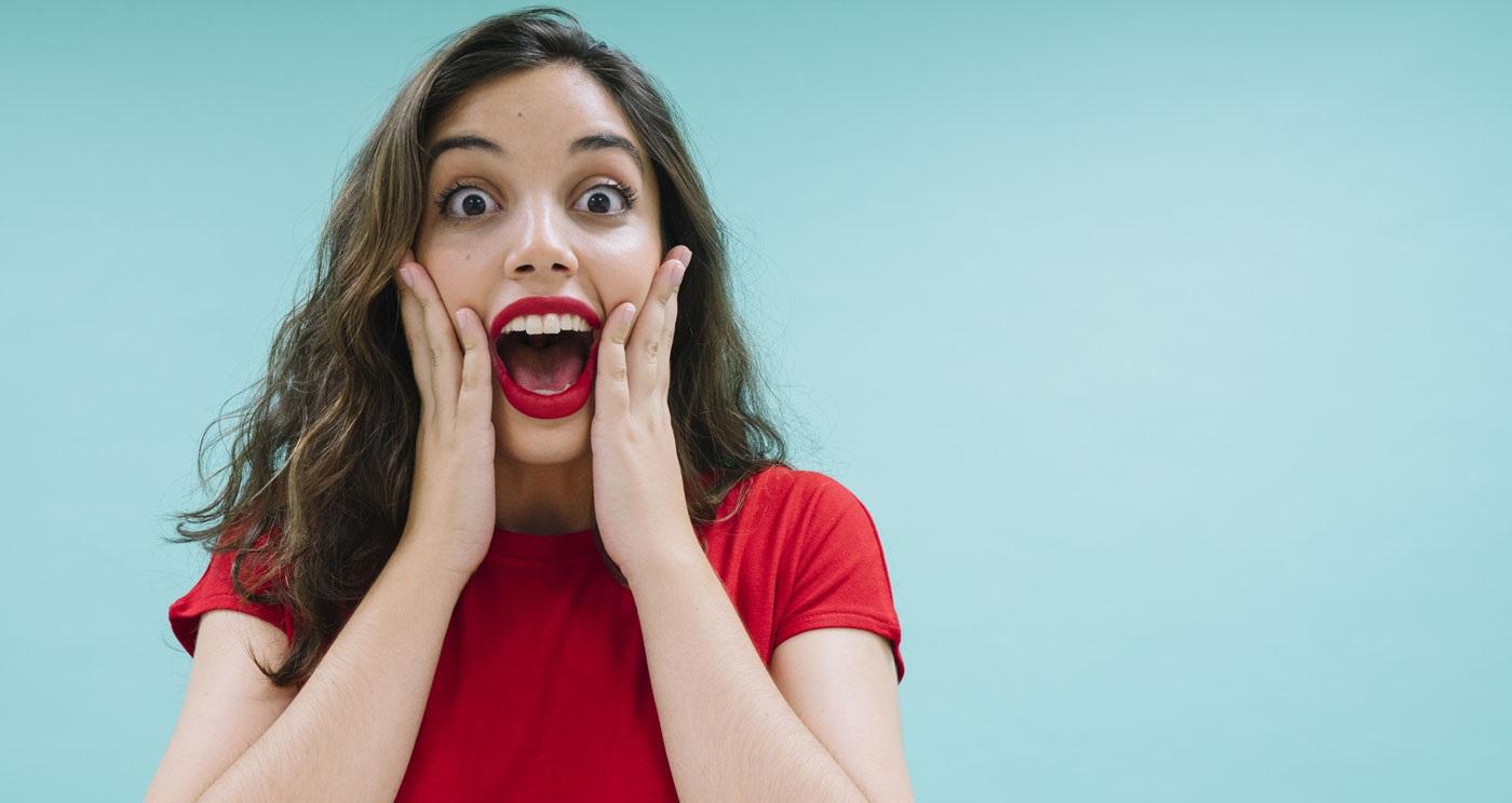 Mujer sorprendida ofertas Duérmete Online